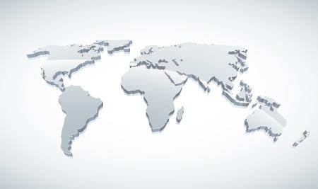 mapa de africa: 3d ilustración mundo mapa.