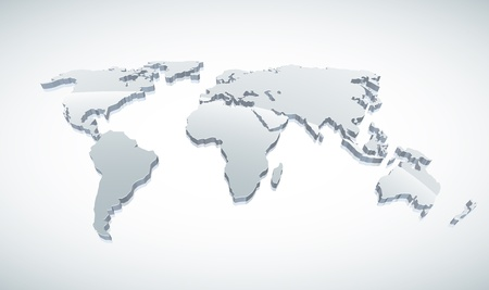 3d world map illustration.