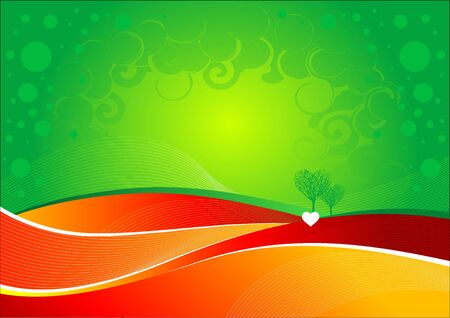 rounding: Vector abstract love background.