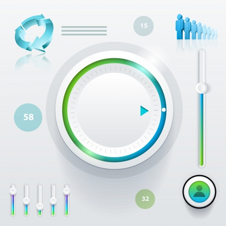 ui: Vector ui  user interface  elements and graphics  Illustration