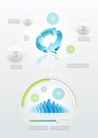 Vector recycle and community infographics Stock Vector - 20744692