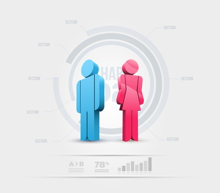 Vector people infographic design template  Elements are layered separately in vector file