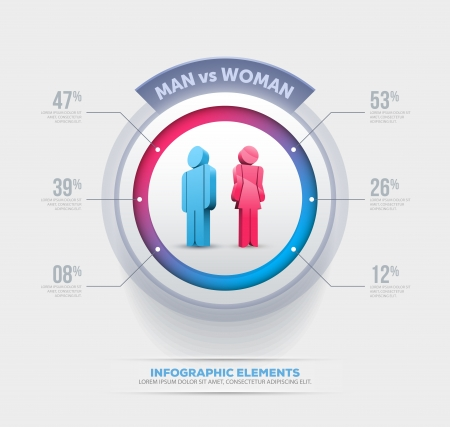 vs: Vector people infographic design template  Elements are layered separately in vector file
