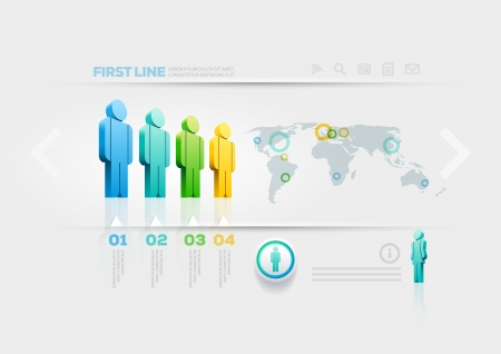 Vector people infographic design template  Elements are layered separately in vector file  Stock Vector - 20744811