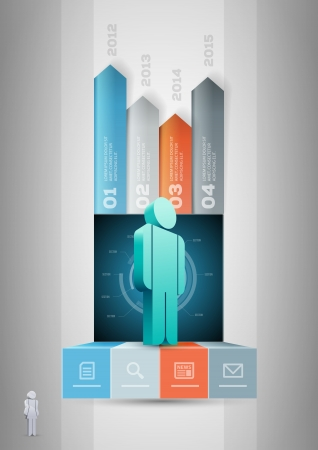 versus: Vector people infographic design template  Elements are layered separately in vector file