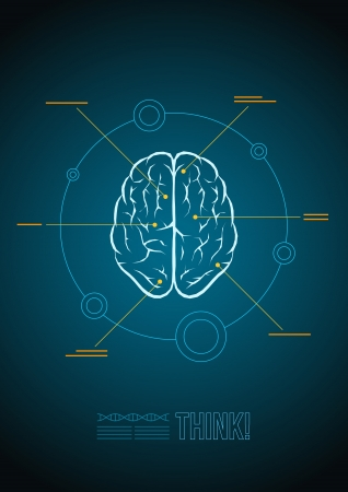 Vector brain infographic template