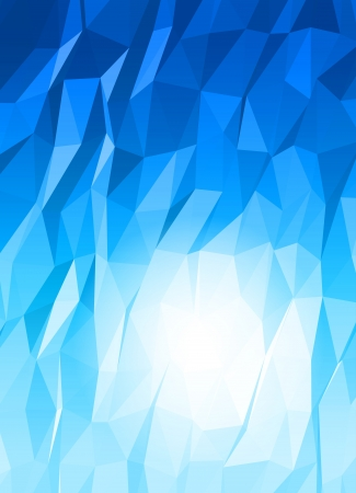 iceberg: Abstract 3d triange vector background  Illustration