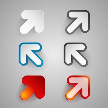 Vector illustration of paper arrow symbol set Stock Vector - 20932185