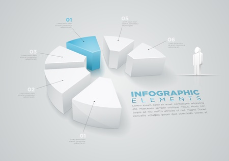 segments: Vector pie chart infographic design template