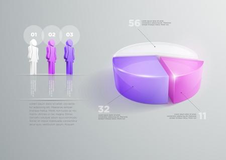segment: Vector pie chart infographic design template