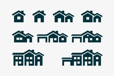 Conjunto de ícones do vetor vários casa. Foto de archivo - 21037367