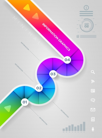 abstract infographic design template  lights, shadows, color shapes etc