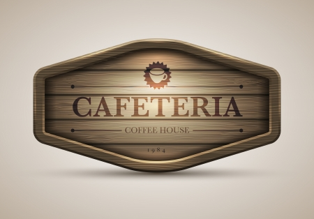 realistic illustration of wooden signboard