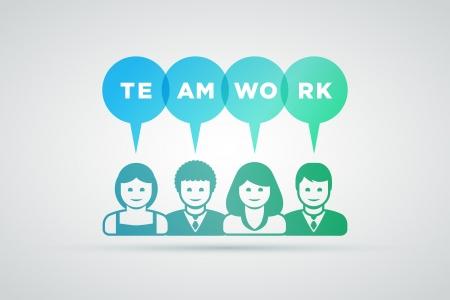 teamwork and innovation concept illustration Stock Vector - 21642147