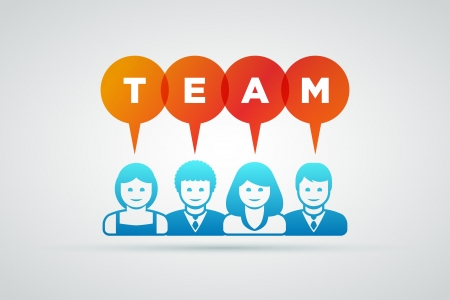 teamwork and team concept illustration Stock Vector - 21642157