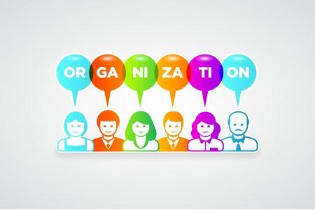 teamwork and organization concept illustration Stock Vector - 21653477