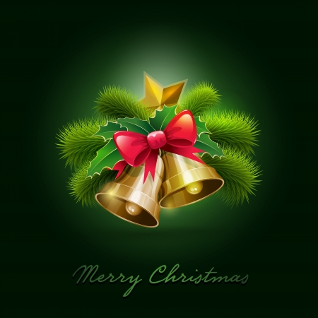 modern christmas baubles: Vector illustration of Christmas Card  Vector ornament object