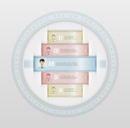 Vector business infographic design template with people icons   Stock Vector - 21858258