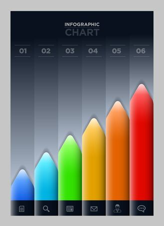 ranking: Vector colorful graph  Infographic chart design template