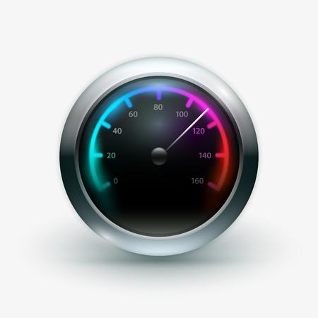mph: Vector illustration of speedometer