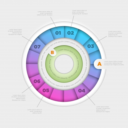 Vector wheel infographic design template  Vector