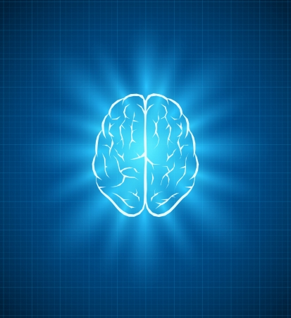 Vector brain blueprint Vector