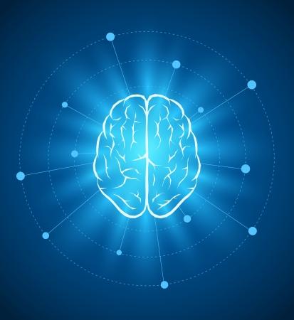 벡터 두뇌 디자인 서식 파일