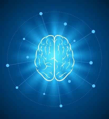 Vector brain design template  Vector