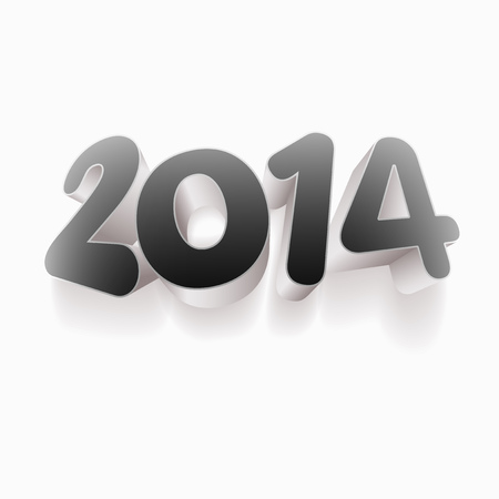 Year 2014! New year design template.   Stock Vector - 22440898