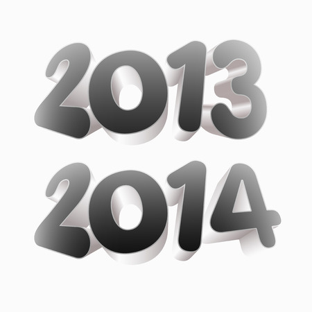Year 2013 and 2014 Stock Vector - 22440901