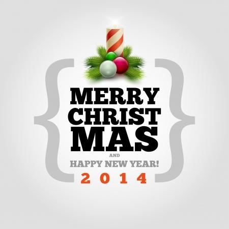 ベクター近代的なクリスマスと新年の招待デザイン テンプレートです。要素は、ベクター ファイルで個別に配置されます。