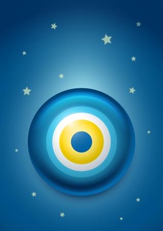 good and evil: illustration of evil eye
