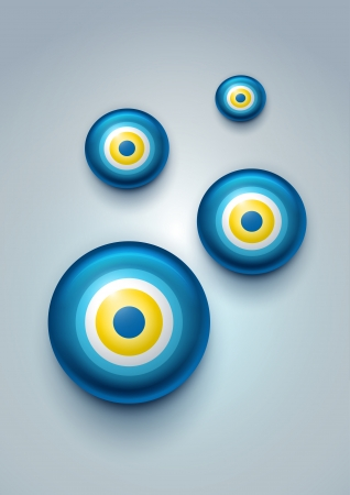 an amulet: illustration of evil eye