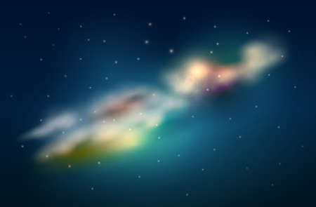gaseous: Space clouds vector illustration