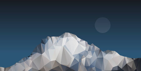 polygonal: polygonal mountain illustration  Illustration