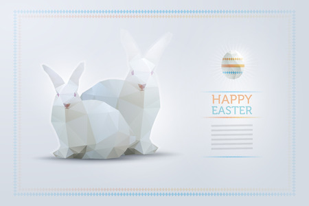 Easter bunny and egg design template. Elements are layered separately in vector file. Vector