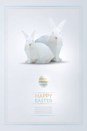 Vector Easter bunny and egg design template. Elements are layered separately in vector file. Vector