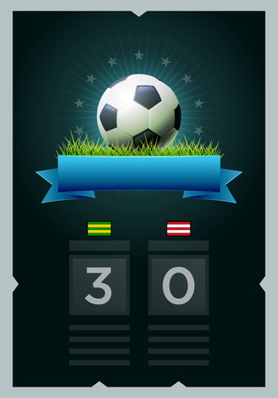 Vector soccer scoreboard design. Elements are layered separately in vector file. Easy editable. Illustration