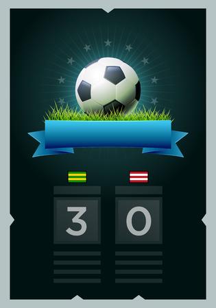 Vektor-Fußball-Anzeigetafel-Design. Elemente werden getrennt in Vektordatei geschichtet. Einfach bearbeitet werden.