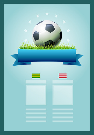 score board: Vector soccer scoreboard design. Elements are layered separately in vector file. Easy editable. Illustration