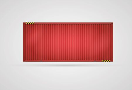 shipping container:  Vector Cargo Red Container  Separated layers  Easy editable  CMYK color mode  Illustration