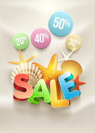 Summer Sale Poster design template  Vector