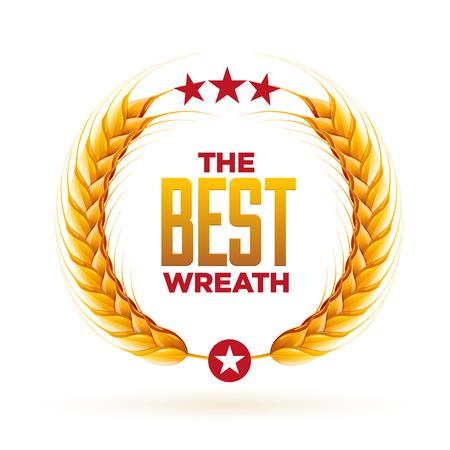 wreath of wheat: Vector realistic wheat wreath design.