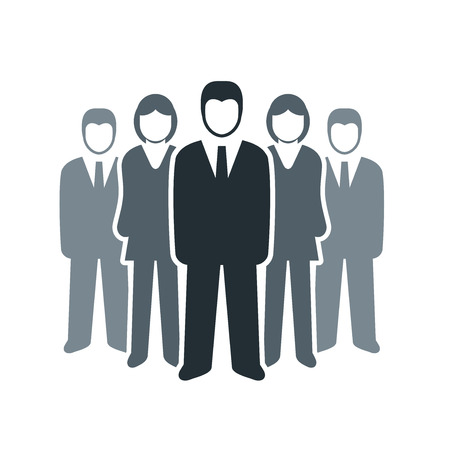 Vector isolated business people icon  Team work concept