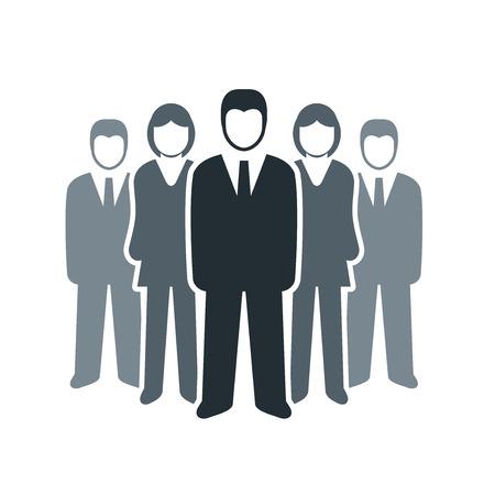 個別のビジネス人々 アイコン チーム仕事の概念をベクトルします。