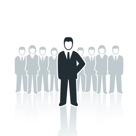 male figure: Vector isolated businessman leadership concept illustration  Illustration