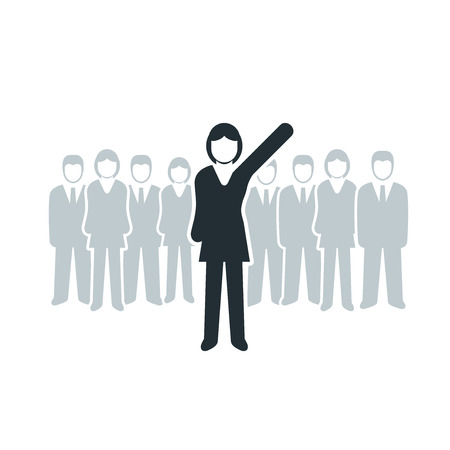 Vector isolated business women leadership concept illustration  Vector