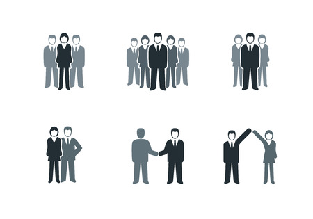 group of elements: Vector business people symbol collection