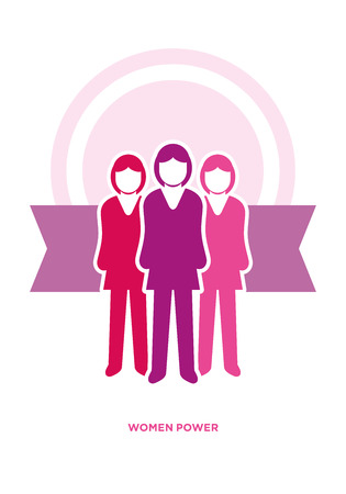 Vector business women power concept illustration Stock Vector - 29195765