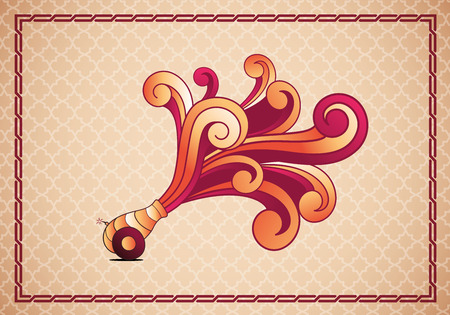 Vector illustration of Traditional Turkish Ramadan Cannon  Elements are layered separately in vector file  Illustration